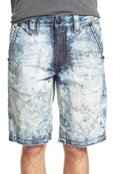 Men's Rock Revival Tie Dye Denim Shorts