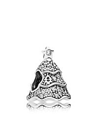 Pandora Design Pandora Charm Sterling Silver And Cubic Zirconia Twinkling Christmas Tree Moments Collection