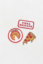 Urban Outfitters Pizza Patch Set Multi