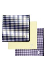 Cathy's Concepts Personalized Handkerchiefs Metallic Set Of 3