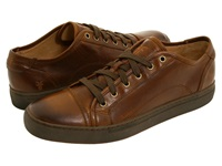 Frye Justin Low Lace Brown Vintage Leather Men's Lace Up Casual Shoes Mahogany