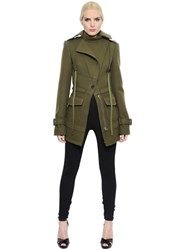 Alexander Mcqueen Double Felted Wool Military Parka
