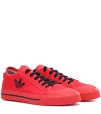 Raf Simons Matrix Spirit Low Canvas Sneakers Red