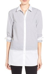 Women's Sandra Colorblock Pinstripe Tunic Shirt