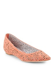 Johnston And Murphy Tami Suede Flats Coral