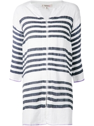 Lemlem 'Zare' Striped Kaftan White