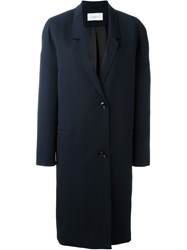 Christophe Lemaire Lemaire Single Breasted Coat Blue