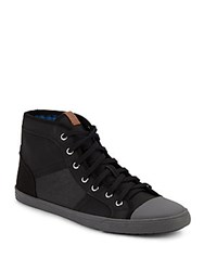 Ben Sherman High Top Lace Up Sneakers Black