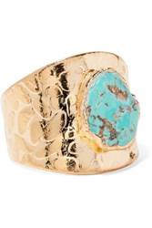 Dara Ettinger Gold Tone Stone Ring