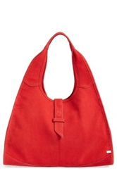Sarah Jessica Parker Sjp 'New Yorker' Leather Hobo Red