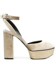 Casadei Platform Pumps Nude And Neutrals
