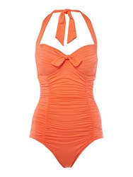 Seafolly Soft Cup Halter Maillot Swimsuit Orange