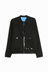 Monreal London Reversible Jersey Jacket Black