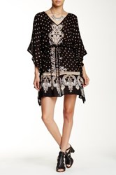 Angie Kaftan Printed Dress Black