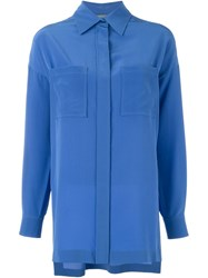 Alberta Ferretti Loose Fit Shirt Blue