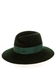 Maison Michel Virginie Showerproof Fur Felt Hat Green