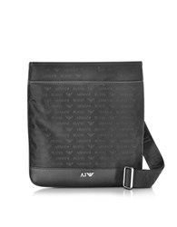 Armani Jeans Black Fabric Messenger