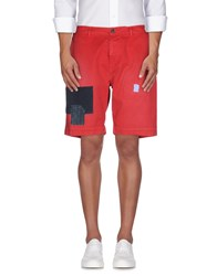 Vintage 55 Trousers Bermuda Shorts Men Red
