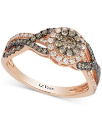 Le Vian Chocolatier Chocolate And White Diamond Ring 5 8 Ct. T.W. In 14K Rose Gold