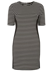 Dorothy Perkins Luxe Side Panel Striped Dress Black