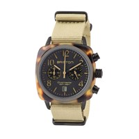 Briston Classic Chronograph Date Black Matte Dial And Khaki Strap Multi