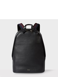 Paul Smith Men's Black Leather 'City Webbing' Backpack