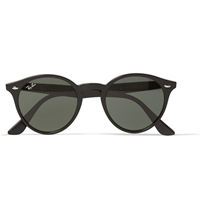 Ray Ban 2180 Round Frame Acetate Sunglasses Black