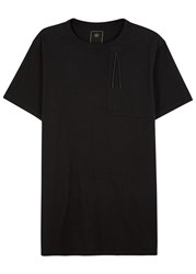 Mhi Black Longline Organic Cotton Travel T Shirt