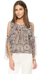 Twelfth St. By Cynthia Vincent Boho Top Endora Paisley