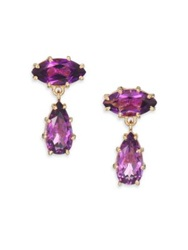 Suzanne Kalan Papillon Amethyst And 14K Yellow Gold Drop Earrings Gold Amethyst