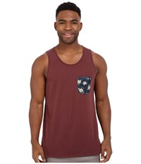 Rip Curl Glory Custom Pocket Tank Top Deep Red Men's Sleeveless