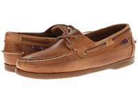 Sebago Schooner Cognac Leather Men's Shoes Brown