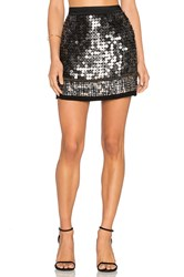 Mlv Meg Sequin Skirt Metallic Silver