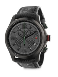 Gucci G Timeless Stainless Steel Chronograph Watch Black