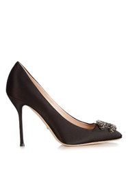 Gucci Dionysus Satin Pumps Black