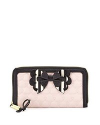 Betsey Johnson Boxed Hopelessly Romantic Zip Around Wallet Pink