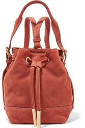 Opening Ceremony Izzy Mini Suede Backpack Brick