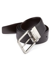 Ermenegildo Zegna Pebble Leather Belt Black