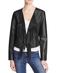 Collection B New York Waxy Faux Leather Fringe Jacket Compare At 140 Black