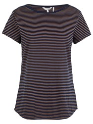 Fat Face Breton T Shirt Navy