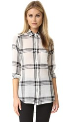 Marissa Webb Wesley Plaid Blouse Birch Plaid