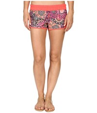 Hurley Supersuede Printed Beachrider Boardshorts Ember Glow Women's Swimwear Orange