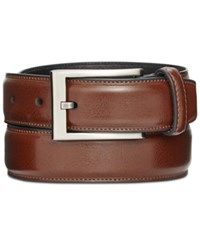Alfani 32Mm Feather Edge Stitch Dress Belt Brown