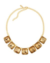 Emily And Ashley Asscher Cut Topaz Crystal Statement Necklace