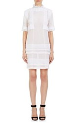 Givenchy Women's Lace Appliqued High Neck Dress White
