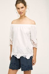 Anthropologie Rhine Off The Shoulder Top White