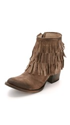 Freebird Belle Fringe Booties Grey