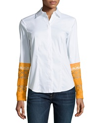 Paperwhite Lace Cuff Long Sleeve Shirt 2