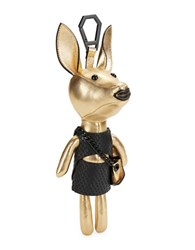 Kendall Kylie Sophie Dog Leather Charm Gold