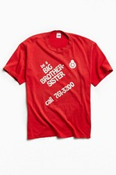 Urban Outfitters Vintage Big Brother Tee Red